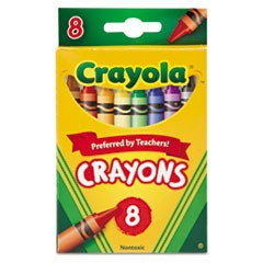 Classic Color Pack Crayons, 8 Colors/Box