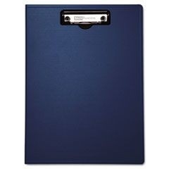"Portfolio Clipboard With Low-Profile Clip, 1/2"" Capacity, 8 1/2 x 11, Blue"