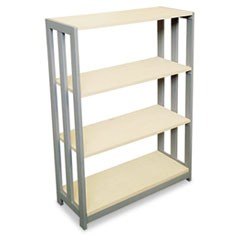 Trento Line Bookcase, Three-Shelf, 31-1/2w x 11-5/8d x 43-1/4h, Oatmeal