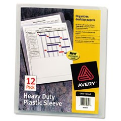Heavy-Duty Plastic Sleeves, Letter Size, Clear, 12/Pack