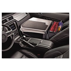 GripMaster 01 Auto Desk w/Retractable Writing Surface & Supply Organizer, Gray