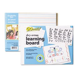 1Dry Erase Learning Boards, 8 1/4 x 11, 5 Boards/PK