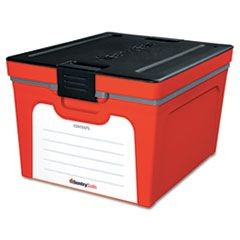 Guardian Storage Box, 1.04 ft3, 15 4/5w x 19 1/2d x 12 3/5h, Red