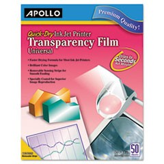 Transparency Film for Inkjet Devices, Clear, 50/Box