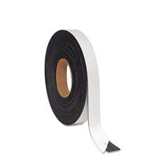 "Magnetic Adhesive Tape Roll, Black, 1"" x 50 Ft."