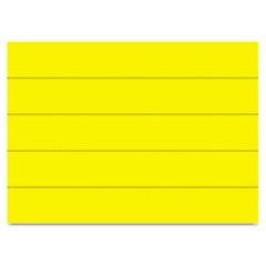 "Dry Erase Magnetic Tape Strips, Yellow, 6"" x 7/8"", 25/Pack"