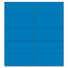 "Dry Erase Magnetic Tape Strips, Blue, 2"" x 7/8"", 25/Pack"
