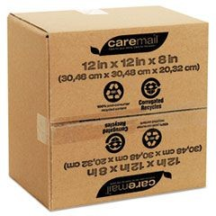100% Recycled Mailing Storage Box, Letter, Brown, 12/Pack