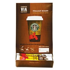 VIA Ready Brew Coffee, 3/25oz, Italian Roast, 50/Box