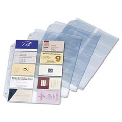 1Business Card Refill Pages, Holds 200 Cards, Clear, 20 Cards/Sheet, 10/Pack