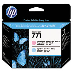 HP 771, (CE019A) Light Cyan/Light Magenta Printhead