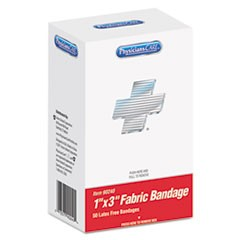 "XPRESS First Aid Kit Refill, Bandages, 1"" x 3"" Fabric, 50/Box"
