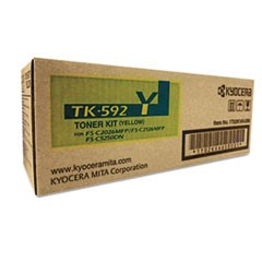 TK592Y Toner, 7000 Page-Yield, Yellow