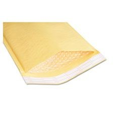 8105001179860 Sealed Air Jiffylite Cushioned Mailer, #0, Bubble Lining, Self-Adhesive Closure, 6 x 10, Golden Kraft, 200/Pack