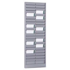 "40-Pocket Steel Swipe Card/Badge Rack, 8-1/8"" x 23-1/8"""