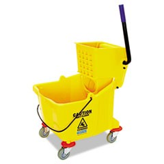 Side-Press Bucket/Wringer Combo, 35 qt, Yellow