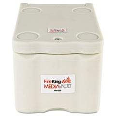 MediaVault, .2 ft3, 11-5/8w x 17-1/2d x 10-1/2h, UL Listed 125� for Fire, White