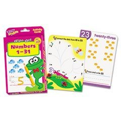 Wipe-Off Activity Cards, Numbers 1-31, 32/Pack