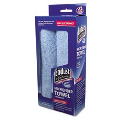 Large-Sized Microfiber Towels Two-Pack, 15 x 15, Unscented, Blue, 2/Pack