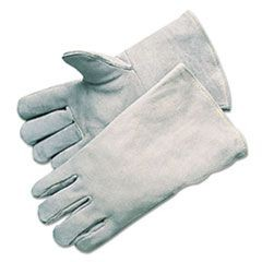 Economy Welding Gloves, Cowhide, 13 1/2 in. Gauntlet Cuff, Large