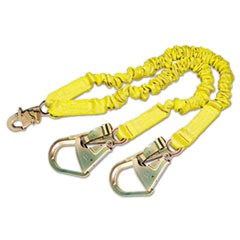 ShockWave2 Shock-Absorbing Lanyard, Steel Hooks, 900lb MAF