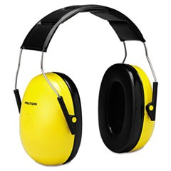 Optime 98 H9A Earmuffs, 25 dB NRR, Yellow/Black