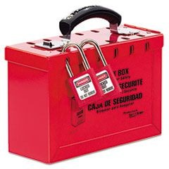 Latch Tight Portable Lock Box, Red
