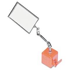 "Heavy Duty Inspection Mirror, 2 1/8"" x 3 1/2"", Magnetic Base"