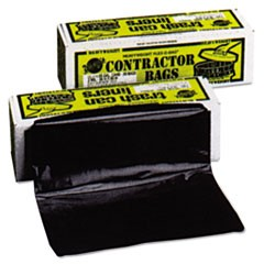 Heavyweight Contractor Bags, 35 x 56, 55gal, 3mil, Black, 30/Box