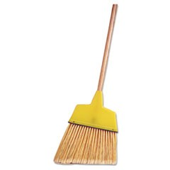"Angle Broom, Flagged Plastic Bristles, 7-1/2"" - 6"" Bristles, 54"" Length"
