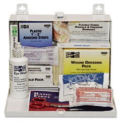 25-Person Steel First-Aid Kit, w/Eyewash