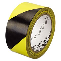 "766 Hazard Warning Tape, Black/Yellow, 2"" x 36yds"