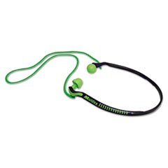 Jazz Band Banded Hearing Protector, 25NRR, Bright Green/Blue, 10 Pairs