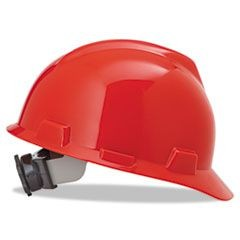 V-Gard Hard Hats, Fas-Trac Ratchet Suspension, Size 6 1/2 - 8, Red