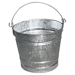 Galvanized Pail, 10qt, Steel, 12/Box