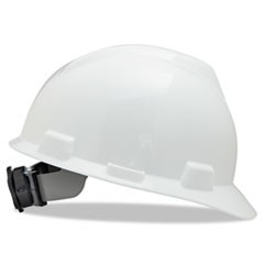 V-Gard Hard Hats, Fas-Trac Ratchet Suspension, Size 6 1/2 - 8, White