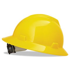 V-Gard Hard Hats, Fas-Trac Ratchet Suspension, Size 6 1/2 - 8, Yellow
