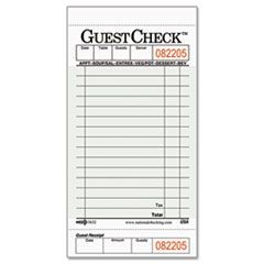 Guest Check Pad with Customer Receipt Stub, 3 1/2 x 6 3/4, 50 Checks/Pad