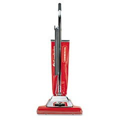 "Widetrack Commercial Upright Vacuum w/Vibra Groomer, 16"" Path, 18.5lb, Red"