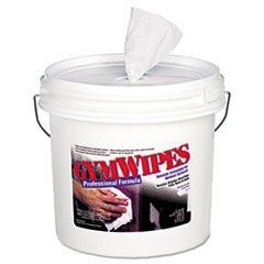 Antibacterial Gym Wipes, 6 x 8, Unscented, 700/Bucket, 2 Buckets/Carton