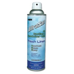 Handheld Air Sanitizer/Deodorizer, Fresh Linen, 10oz, Aerosol, 12/Carton