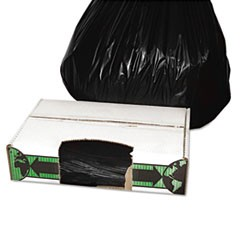 Linear Low-Density Ecosac, 33 x 39, 33-Gallon, 1.5 Mil, Black, 150/Case