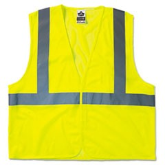 GloWear 8210HL Class 2 Economy Vest, Polyester Mesh, Hook Closure, Lime, L/XL