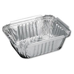 Aluminum Oblong Container, 1 Pound, 5-9/16 x 4-9/16 x 1-5/8
