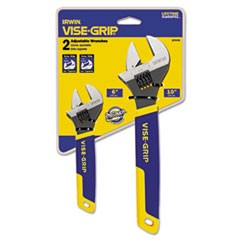 "Two-Piece Adjustable Wrench Set, 6"" and 10"" Long"