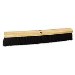 "Floor Brush Head, 24"" Wide, Polypropylene Bristles"