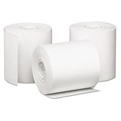 "Impact Bond Paper Rolls, 3"" x 85 ft, White, 50/Carton"
