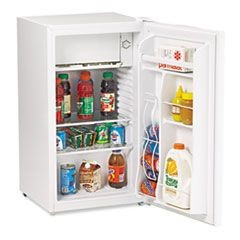 3.3 Cu.Ft Refrigerator with Can Dispenser and Door Bins, White