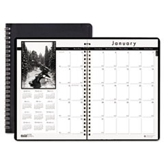 Monthly Planner w/Black-&-White Photos, 8-1/2 x 11, Black, 2015-2017