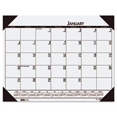 EcoTones Mountain Gray Monthly Desk Pad Calendar, 22 x 17, 2016
